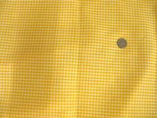 "Gingham 1/8"" Yellow White Check 100% Cotton Fabric"
