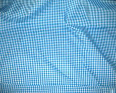 "Gingham 1/8"" Dorothy Aqua Blue Check 100% Cotton Fabric"