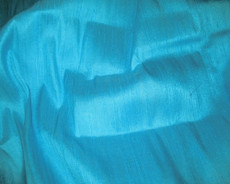 Aqua Blue 100% Silk Dupioni Fabric