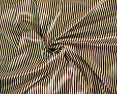 "Gold & Brown Stripe Faux Silk Satin 48"" Fabric"