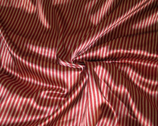 "Gold & Red Stripe Faux Silk Satin 48"" Fabric"