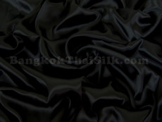 "Black Satin Fabric 45""W"