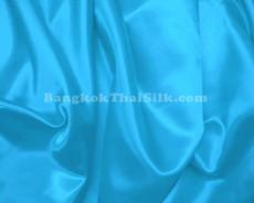 "Turquoise Blue Satin Fabric 45""W"