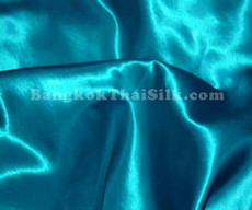 "Teal Satin Fabric 45""W"