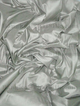 "Silver Smoke Gray 100% Authentic Silk Fabric 54""W Dress Drape"