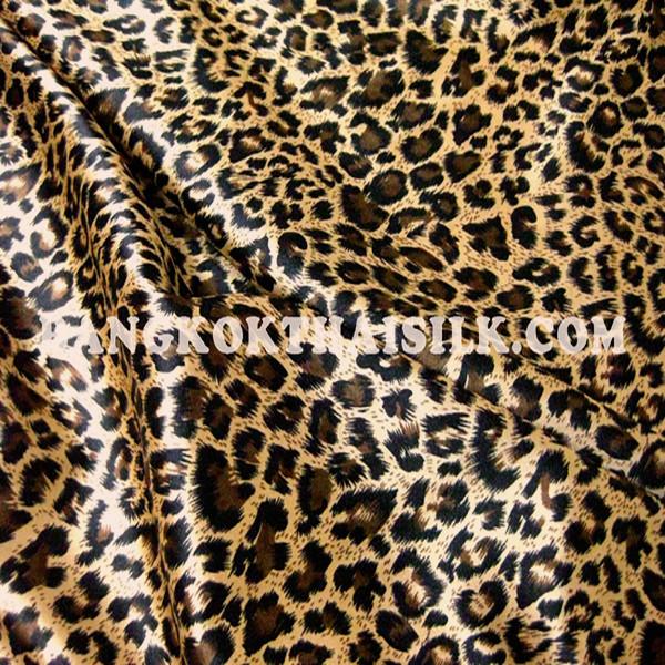 Cheetah Leopard Animal Print Satin 48