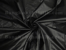 Polished Cotton Shiny Fabric - Black