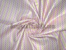 Stripe Floral Bling Bling Metallic Brocade Fabric - Pink & Gold