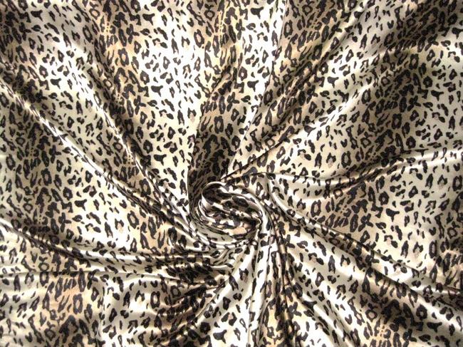 Stripe Gold Ivory Cheetah Animal Print 48