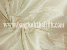 "Faux Silk Caprice Dupioni 60""W Fabric - Ecru Cream"
