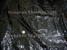 Sequin Satin Fabric - Black