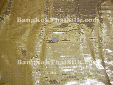 Sequin Satin Fabric - Gold