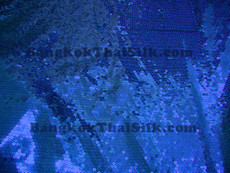 Sequin Satin Fabric - Royal Blue