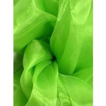 Sheer Mirror Organza - Lime Green