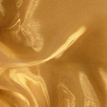 Sheer Mirror Organza - Gold