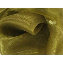 Sheer Mirror Organza - Olive Green