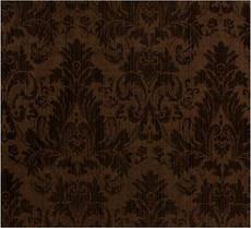 Damask Faux Silk Fabric - Brown & Chocolate