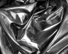 "Metallic Double Sides Bling Fabric 44""W - Black Shot Silver"