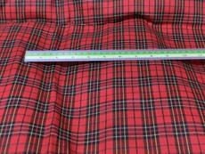 "Plaid Tartan Woven Cotton Fabric 44""W - Red Black"