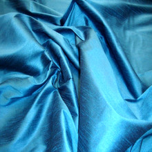 "Faux Silk Caprice Dupioni 60""W Fabric - Horizon Blue"