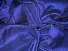 "Royal Blue Faux Silk Taffeta 60""W Fabric"