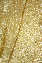 Seaweed Sequin Fabric - Gold