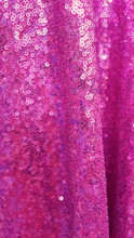 Seaweed Sequin Fabric - Hot Pink