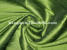 Olive Green 100% Silk Dupioni Fabric