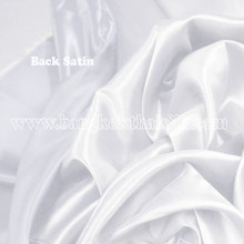 Heavy Silky Dupioni with Satin Back Fabric - White
