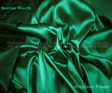 Heavy Silky Dupioni with Satin Back Fabric - Green