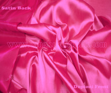Heavy Silky Dupioni with Satin Back Fabric - Hot Pink