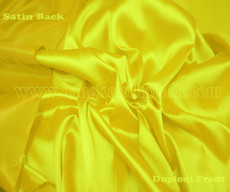 Heavy Silky Dupioni with Satin Back Fabric - Yellow