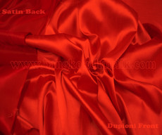 Heavy Silky Dupioni with Satin Back Fabric - Red