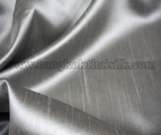 Heavy Silky Dupioni with Satin Back Fabric - Silver Gray