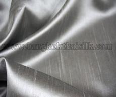 Heavy Silky Dupioni with Satin Back Fabric - Silver Gray