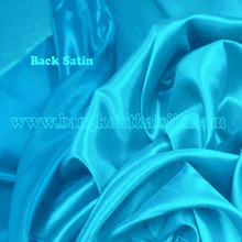 Heavy Silky Dupioni with Satin Back Fabric - Turquoise Blue