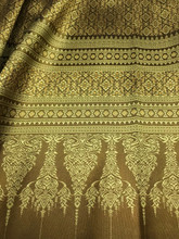 "Thai Silk Damask 40""W Fabric - Old Gold"
