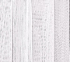 "Soft Net Stretch Tulle 60""W - WHITE"