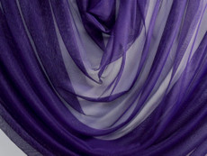 "Soft Net Stretch Tulle 60""W - Dark Royal Purple"