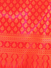 "Thai Silk Damask 40""W Fabric (PB) - Red & Gold"