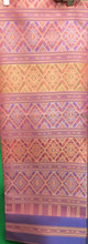 "Traditional Thai Silk  Fabric 40""x80"" for Thai-Laos Skirt (Praewa) - Pink Peach"