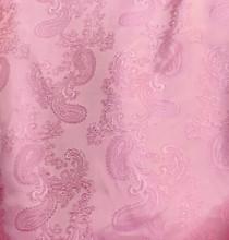"""Paisley Jacquard Viscose Fabric 60""""W - Pink"""