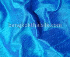 Turquoise Blue 100% Silk Dupioni Fabric