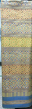 "Traditional Thai Silk  Fabric 40""x80"" for Thai-Laos Skirt (Praewa) Pastel Yellow"