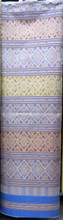 "Traditional Thai Silk Damask Fabric 40""x80"" Thai-Laos Skirt (Praewa) Pastel Blue Purple"