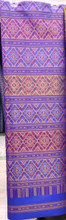 Traditional Thai Silk  Fabric 105x200 cm for Thai-Laos Skirt (Praewa) Purple