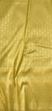 "Traditional Thai Silk  Fabric 40""x70"" for Thai-Laos Skirt (Lanna) - Golden Gold"