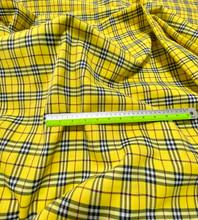 "Plaid Tartan Woven Cotton Fabric 44""W - Yellow"