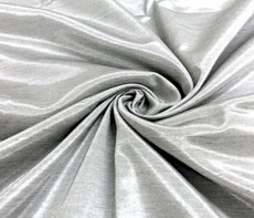 Silkatene Faux Silk Fabric -Silver Gray