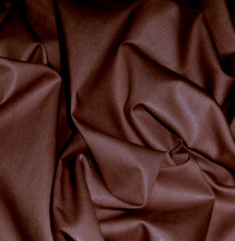 Polished Cotton Shiny Fabric - Chocolate Brown